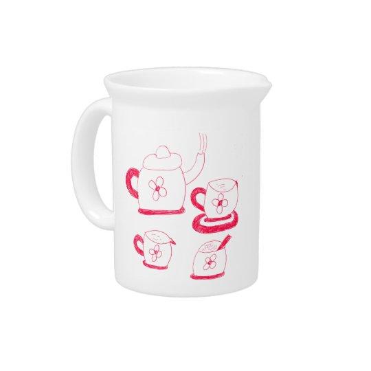 Tee-Zeit-Krug Krug