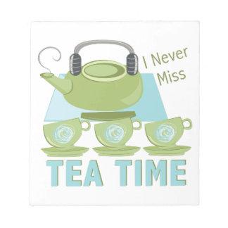 Tee-Zeit Notizblock