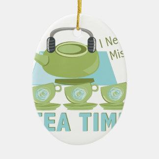 Tee-Zeit Ovales Keramik Ornament