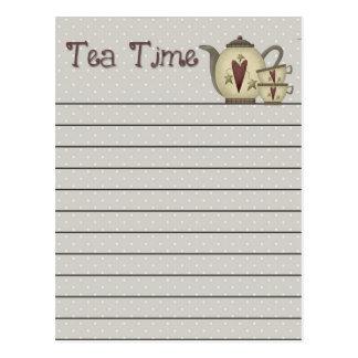 Tee-Zeit-Postkarte