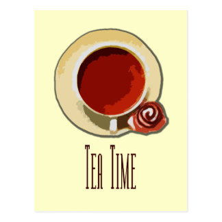 Tee-Zeit Postkarte