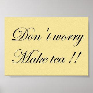 Tee-Zeit-Slogan-Plakat