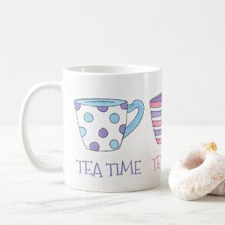 Tee-Zeitteacups-Tee-Party-Pastell Kaffeetasse
