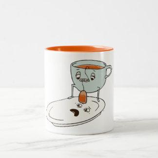 Teebagger-Schalen-und Platten-Küchen-Spaß Zweifarbige Tasse