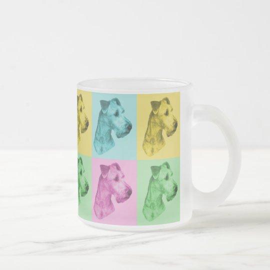"Teeglas Irish Terrier ""pop-art"" Mattglastasse"