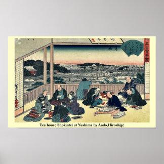 Teehaus Shokintei bei Yushima durch Ando, Hiroshig Plakate