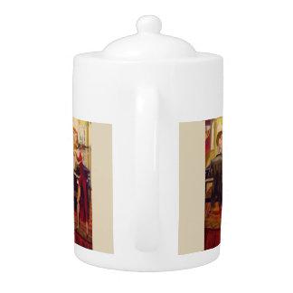 Teekanne-Ölgemälde küsst