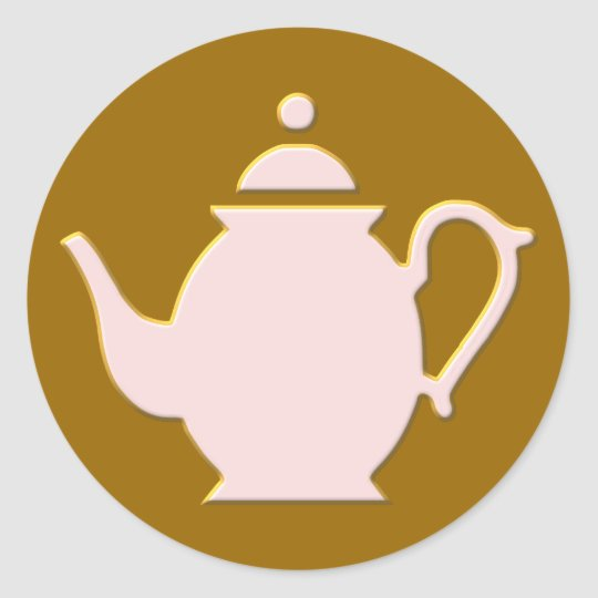 Teekanne teapot runder aufkleber