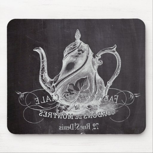 Teekanne Vintages Tafel-Brautparty-Tee-Party Mousepad