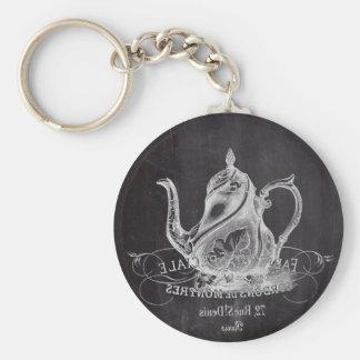 Teekanne Vintages Tafel-Brautparty-Tee-Party Schlüsselanhänger