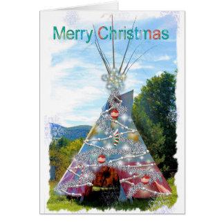 TeePee-frohe Weihnacht-Karte Karte