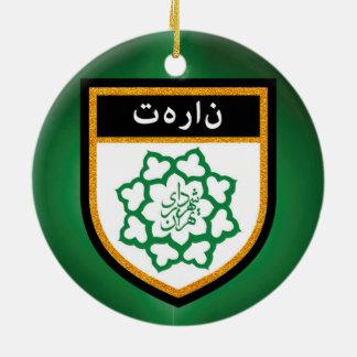 Teheran-Flagge Rundes Keramik Ornament