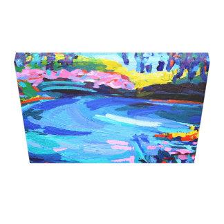 Teich an Giverny Malerei gedruckt auf Leinwand