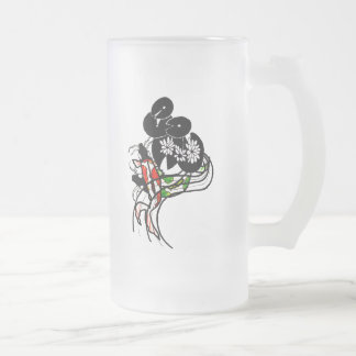 Teich Koi Silhouette-Kunstmattierte GlasTasse Mattglas Bierglas
