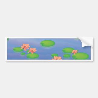 Teich Lilly Blätter Autoaufkleber