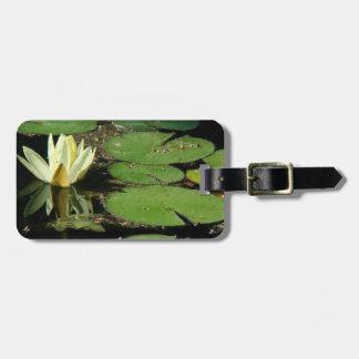 Teich-Wasser-Garten-Wasserlilie-Blume Gepäckanhänger