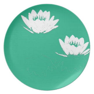 Teich-Wasser-Garten-Wasserlilie-Blume Melaminteller