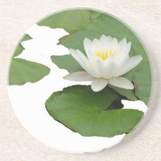 Teich-Wasser-Garten-Wasserlilie-Blume Sandstein Untersetzer