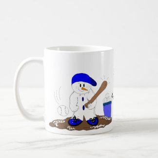 Teig herauf Schneemann Kaffeetasse