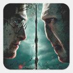 Teil 2 Harry Potters 7 - Harry gegen Voldemort Quadratsticker