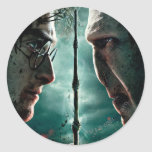 Teil 2 Harry Potters 7 - Harry gegen Voldemort Runde Aufkleber