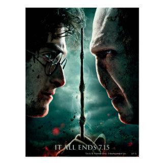 Teil 2 Harry Potters 7 - Harry gegen Voldemort Postkarte