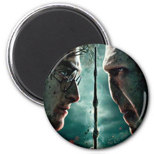 Teil 2 Harry Potters 7 - Harry gegen Voldemort Runder Magnet 5,7 Cm