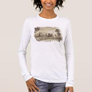 Teil der Stadt und des Schlosses von Ludlow in Langarm T-Shirt