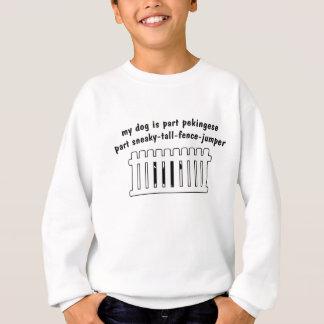 Teil Pekingese Teil Zaun-Pullover Sweatshirt