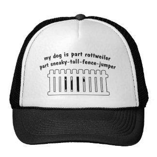 Teil Rottweiler Teil Zaun-Pullover Caps