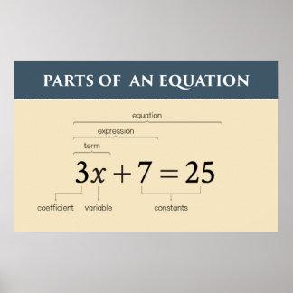 Teile einer Gleichung Poster