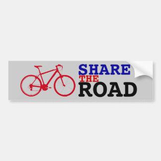 teilen Sie das Straße ~ Radfahren Autoaufkleber