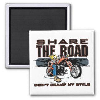 Teilen Sie das Straßen-Motorrad Quadratischer Magnet