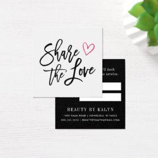 Teilen Sie die Empfehlung der Liebe-| Quadratische Visitenkarte