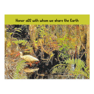 teilen Sie die Erde Postkarte