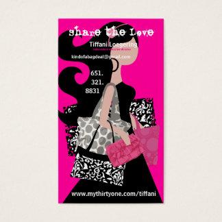 Teilen Sie die Liebeempfehlungskarte Visitenkarten