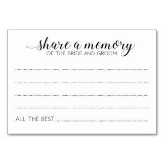 Teilen Sie eine Gedächtnis-Hochzeits-Karten - Karte