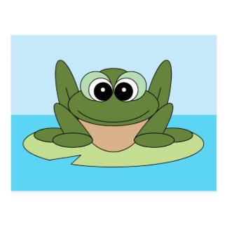 Teilen Sie eine Lächeln-glückliche Postkarte