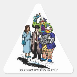 Teils Clowny Dreieckiger Aufkleber