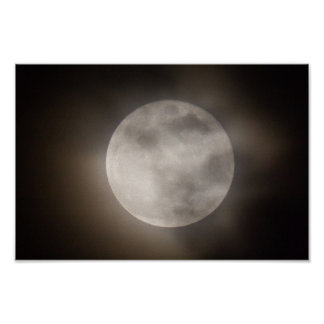 Teilweise Cloudly Vollmond, Ohio Poster