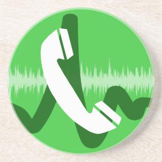 Telefon-Anruf-Ikone Getränkeuntersetzer
