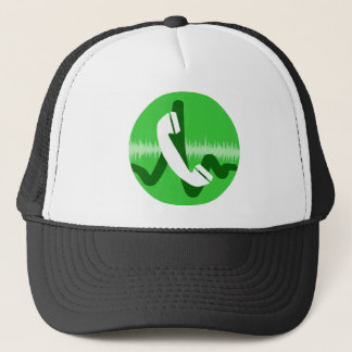 Telefon-Anruf-Ikone Truckerkappe
