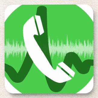 Telefon-Anruf-Ikone Untersetzer