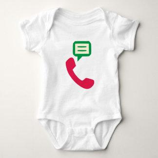 Telefon Anruf telephone call Baby Strampler