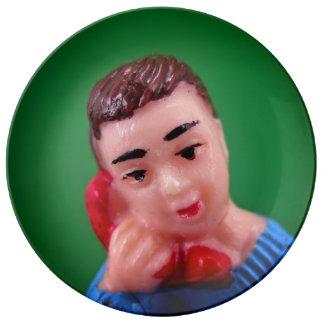 Telefon-Jungen-Platte Teller Aus Porzellan