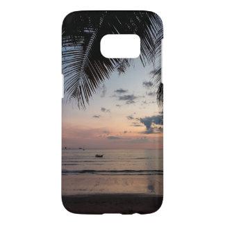 Telefon-Kasten der Palmen-und Strand-Galaxie-S7