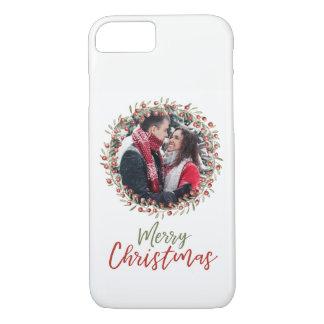 Telefon-Kasten des Weihnachtsbeeren-Kranz-| iPhone 8/7 Hülle
