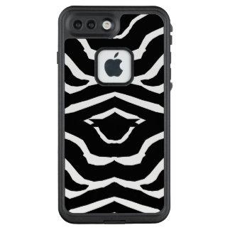 Telefon-Kasten des Zebra-Tiermuster-zwei LifeProof FRÄ' iPhone 8 Plus/7 Plus Hülle