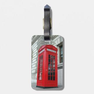 Telefon-Kasten-Gepäckanhänger Londons roter Kofferanhängern