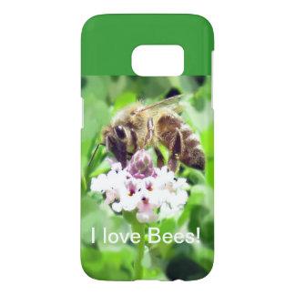 Telefon-Kasten - Honigbiene auf Blüte